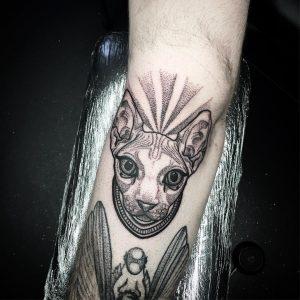 Tattoo gatto by @kirstietattoo
