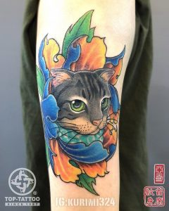 Tattoo gatto by @kurimi324