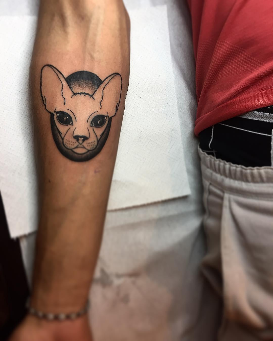 Tattoo gatto by @luciamenara