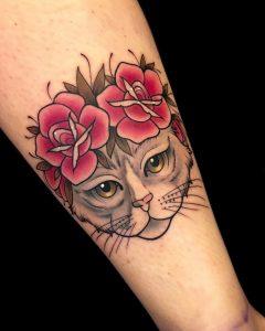Tattoo gatto by @samuelamaggi