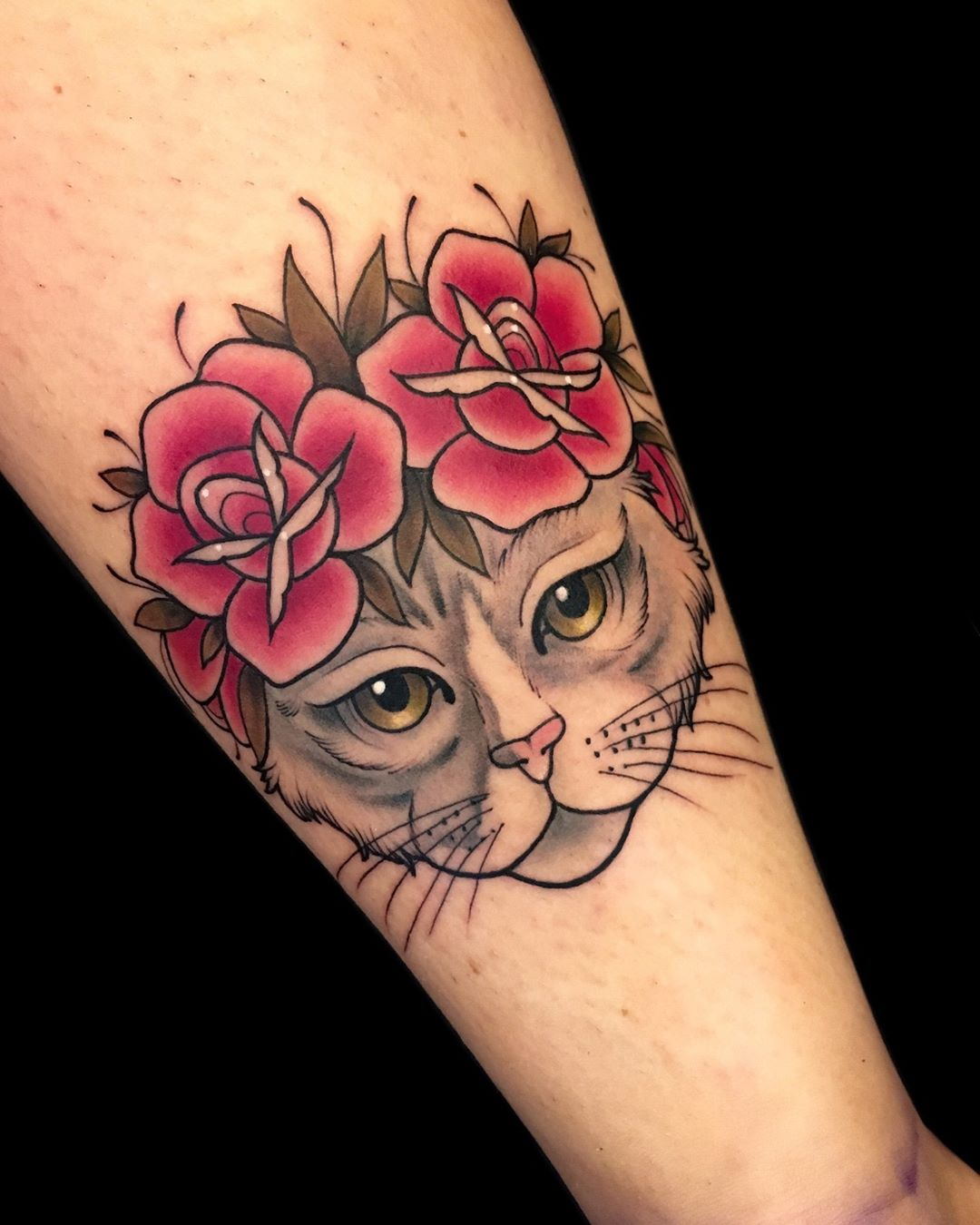 Tattoo gatto by @samuelamaggi