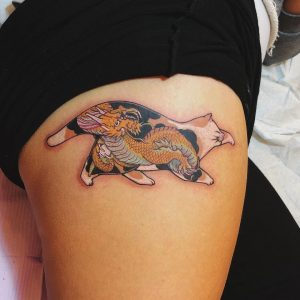 Tattoo gatto by @zushtatu