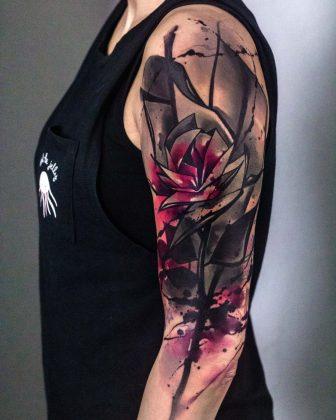 tatuaggio a colori e black&grey