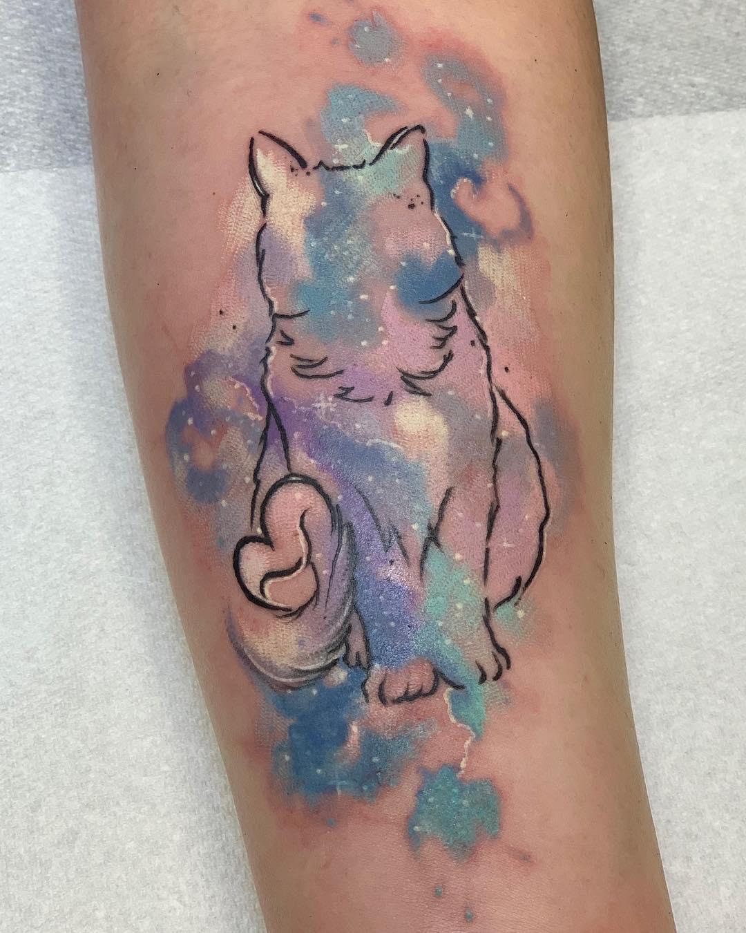 tattoo gatto by @queenofdiamondstattoostudio