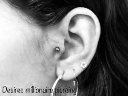 Piercing orecchio by @millionairepiercing