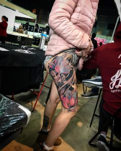 Tattoo carpa e fiore di loto