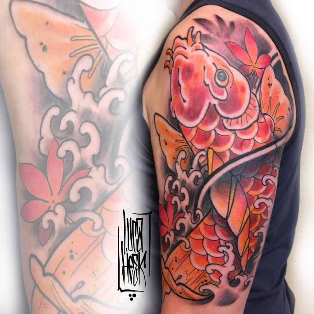 carpa koi tattoo