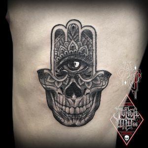 mano di fatima tattoo by @alexjokertattoo