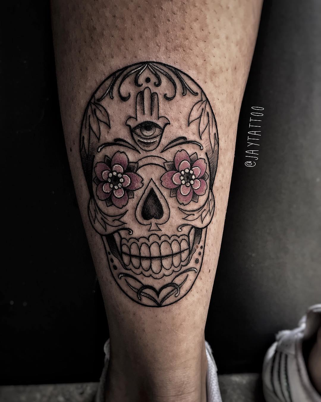 mano di fatima tattoo by @jessica_verza