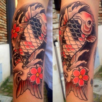 Tattoo carpa koi