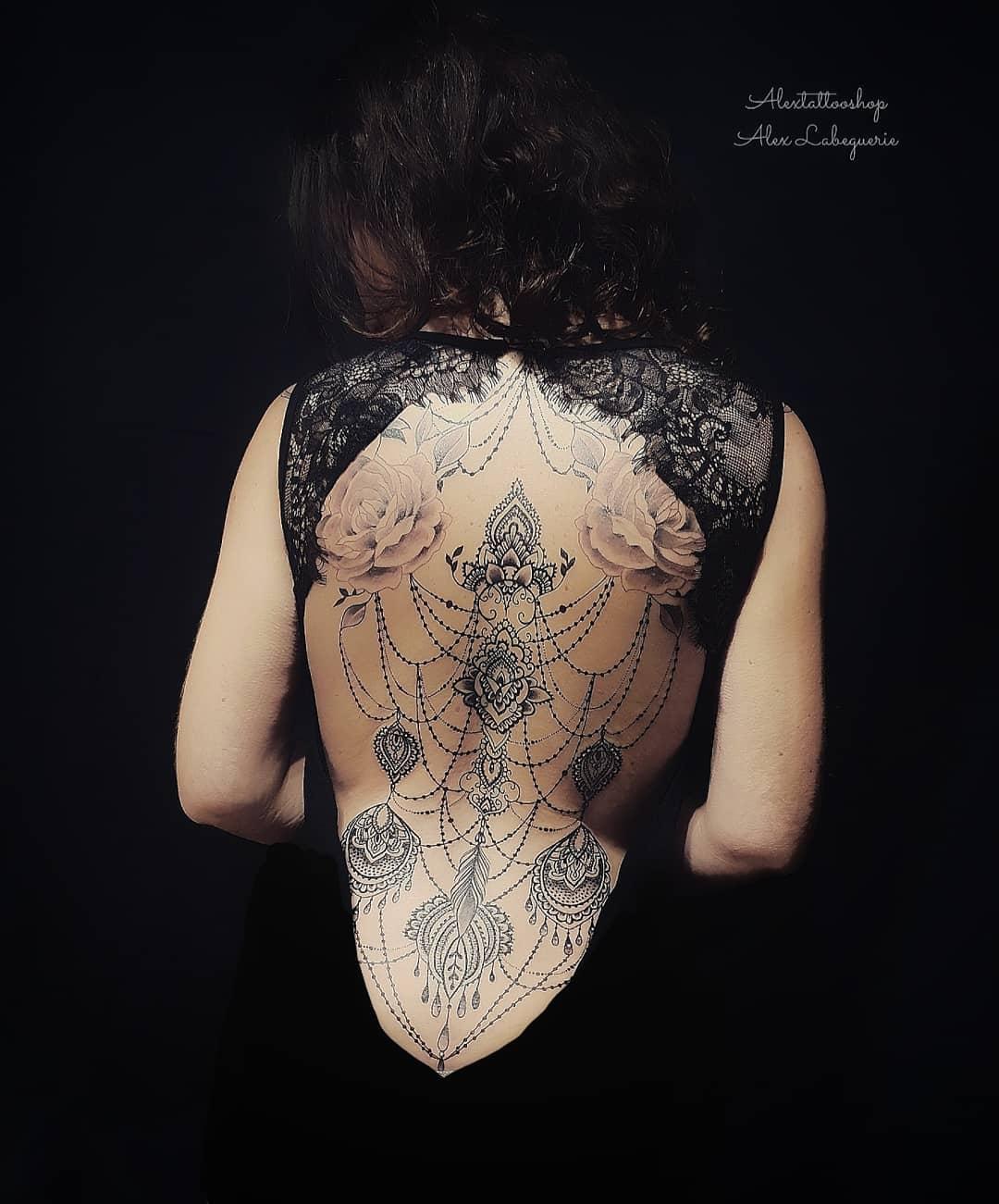 tattoo mandala by @alexlabeguerie_alextattooshop