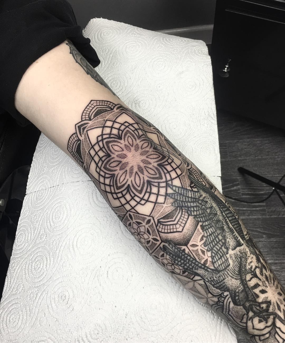 tattoo mandala by @jayrichardsontattoos