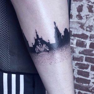 tattoo black lines by @marked_by_elysse at @inkdistrictamsterdam