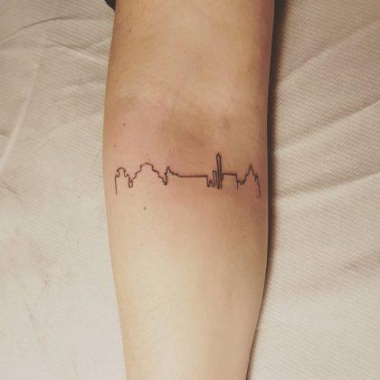 tattoo black lines by @warehousetattoo