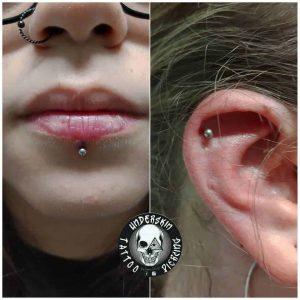 labret piercing