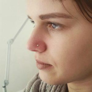 Piercing nostril by @g.p_piercing_milano