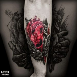 tattoo cuore by @bolshak0ff