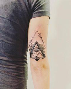 fiore di loto tattoo triangle by @efiartist
