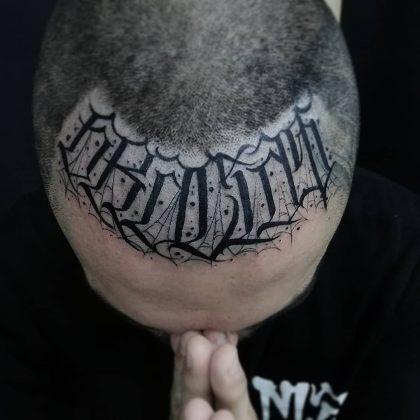 lettering tattoo by @eddie88_tattoo