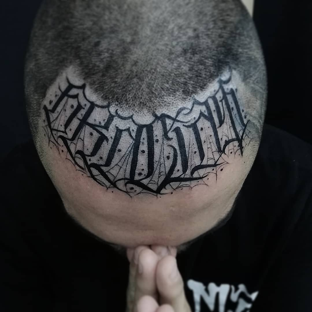 lettering tattoo by @eddie88_tattoo