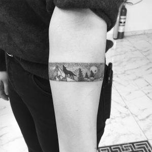 tattoo linee nere paesaggio by @b_netedu
