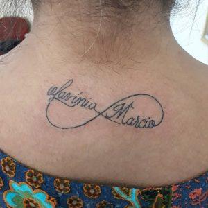 tattoo infinito con nome by @tekodefinitivostattoostudio