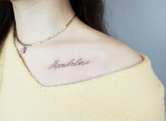 tattoo lettering by @loatattoo
