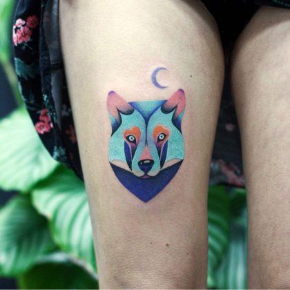 tattoo lupo by @jagoda_matula