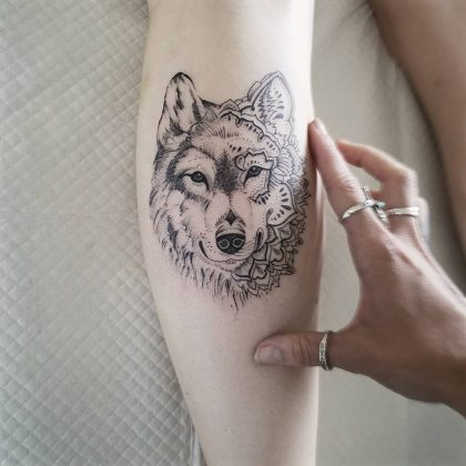 tattoo lupo by @nicolekayetattoo