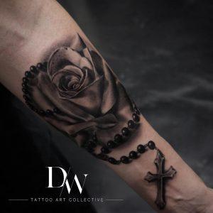 tattoo rosario rosa by @dreamworxink