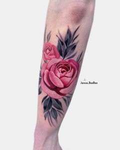 tattoo rose braccio by @janice_baobao
