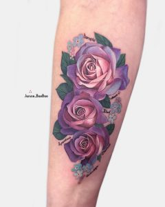 tattoo rose viola by @janice_baobao
