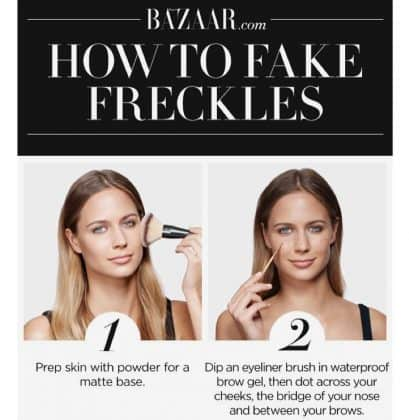 tutorial fake lentiggini by @thebeauty.makeupacademy