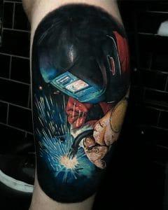 Tatuaggio lavoro saldatore