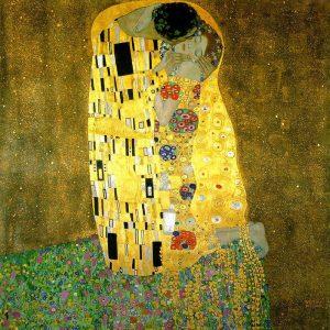 Il bacio Klimt dipinto