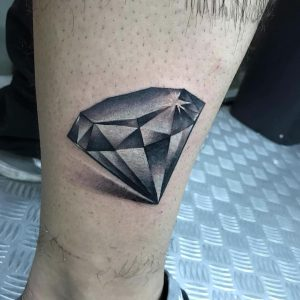 tatuaje de diamante