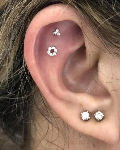 piercing fiore diamanti Maria Tash