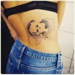 tatuaje de beso