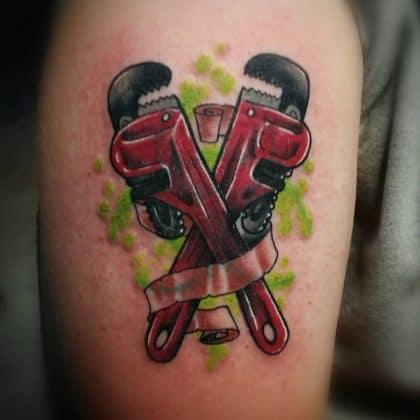 tatuaggio lavoro meccanico-idraulico