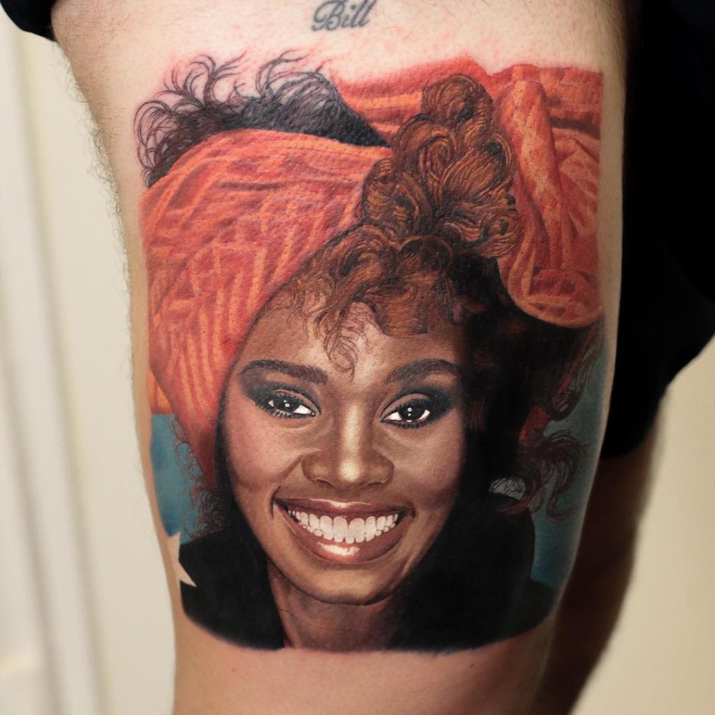 Whitney-Houston-tattoo-by-@revelationtattoostudios