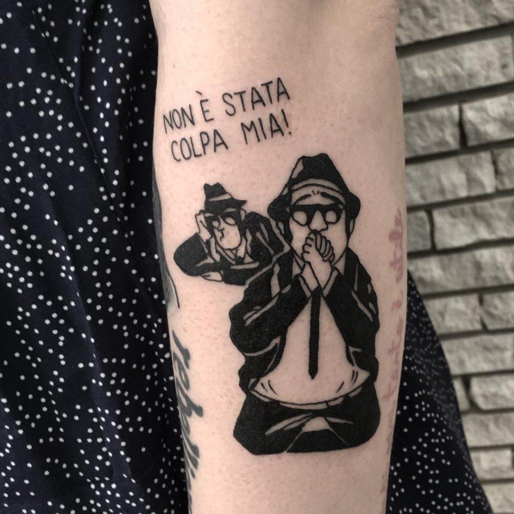 idee-tatuaggi-John-Belushi-by-@gaialaracchia