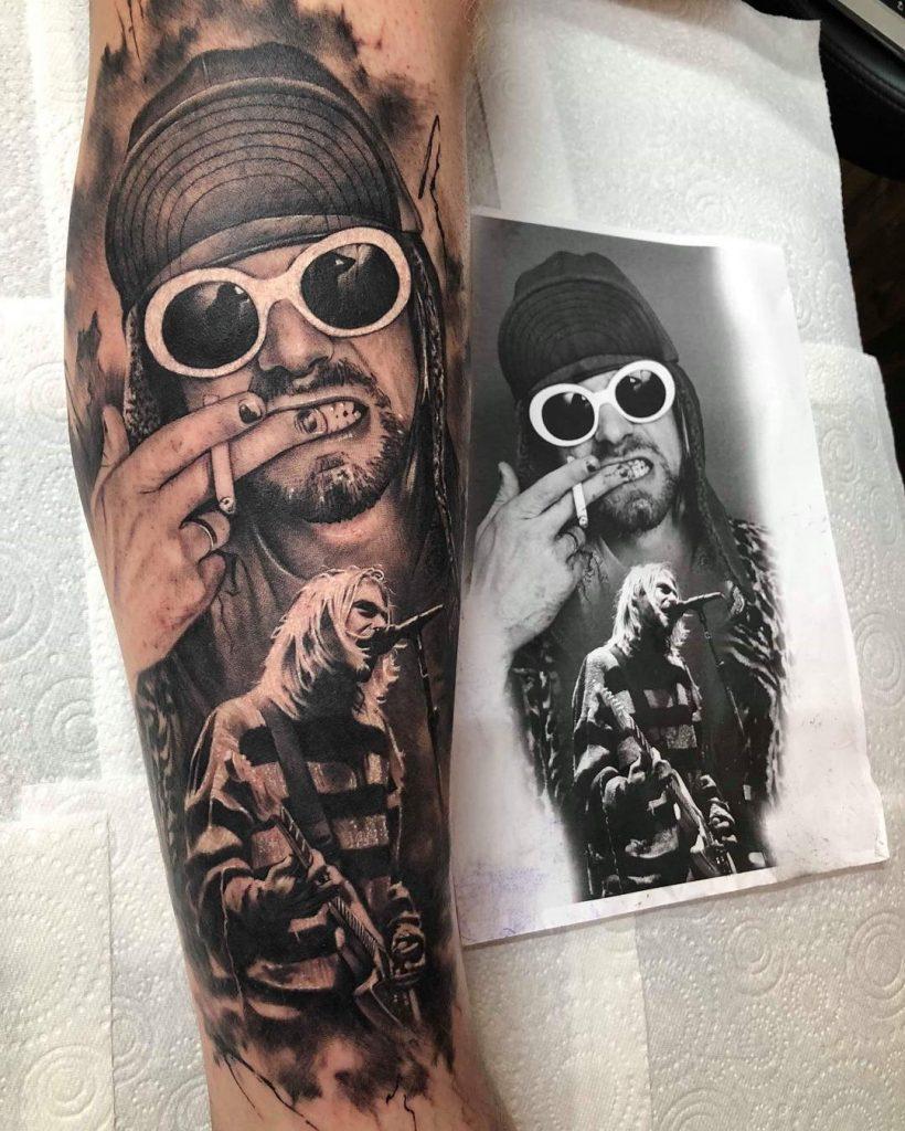 idee-tatuaggi-Kurt-Cobain-by-@ashlewistattoo