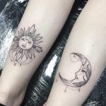 tatuaggio sole luna by @catsinbrogues