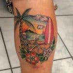tatuaggio spiaggia palma surf aperitivo by @gerardart