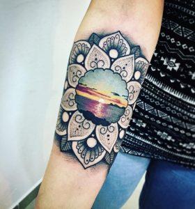 tatuaggio tramonto mare by @andrea_pinna_vespink