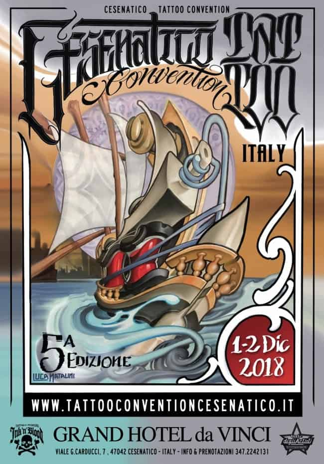 Cesenatico Tattoo Convention 2018 Locandina