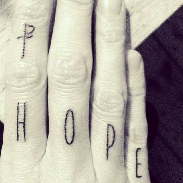 hope tattoo photocredit @asiaargento
