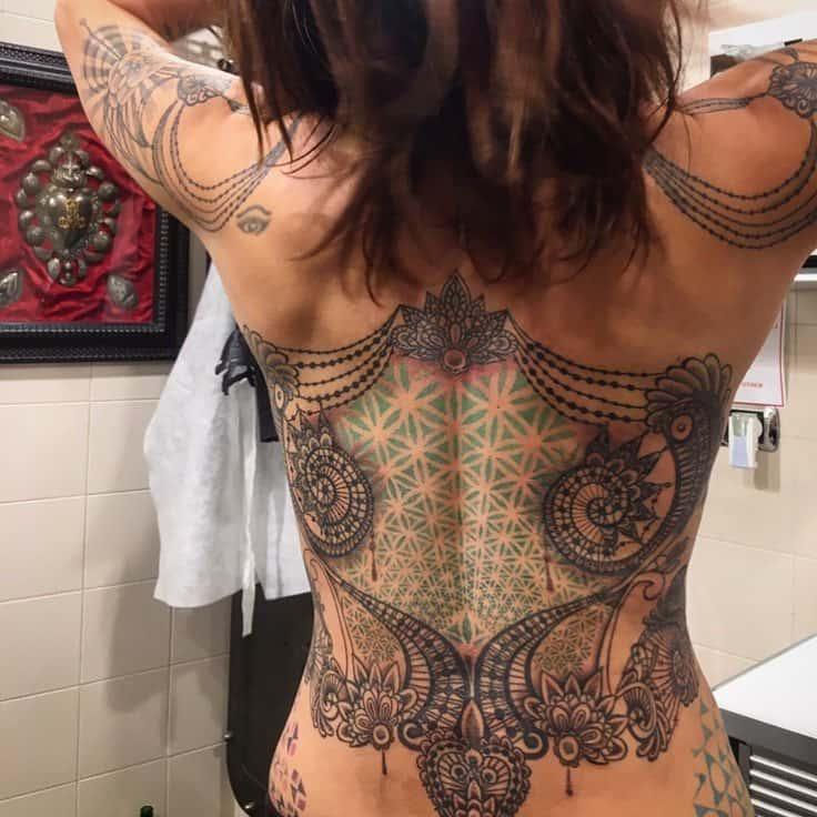 tatuaggio schiena photocredit @asiaargento